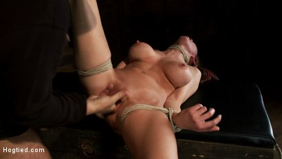 Photo number 4 from Warning: Rough sexual violence, catastrophic fucking. Squirting & brutal orgasms, total destruction. shot for Hogtied on Kink.com. Featuring Rain DeGrey in hardcore BDSM & Fetish porn.