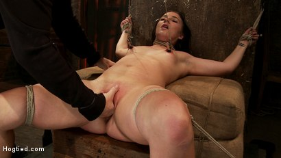 Photo number 9 from Brutal cunt flogging, nipple torment & finger fucking till she squirts w/multiple screaming orgasms! shot for Hogtied on Kink.com. Featuring Ashli  Orion in hardcore BDSM & Fetish porn.