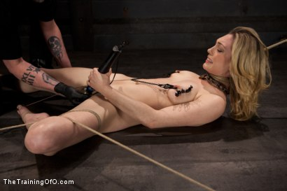 Photo number 3 from Slave Training Lily LaBeau<br>Final Day Live shot for The Training Of O on Kink.com. Featuring Lily LaBeau and The Pope in hardcore BDSM & Fetish porn.