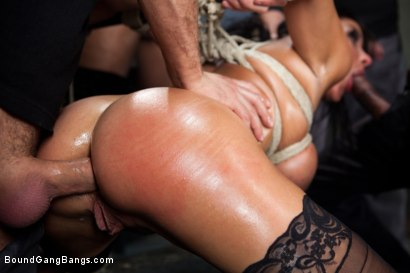 Photo number 7 from Giant Natural Boobs get Tied up Tight and Gang Banged shot for Bound Gang Bangs on Kink.com. Featuring James Deen, Anissa Kate, Rob Blu, Mickey Mod, Karlo Karrera and Mark Davis in hardcore BDSM & Fetish porn.