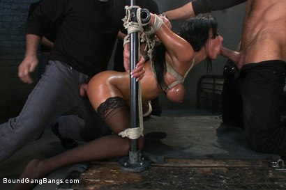 Photo number 9 from Giant Natural Boobs get Tied up Tight and Gang Banged shot for Bound Gang Bangs on Kink.com. Featuring James Deen, Anissa Kate, Rob Blu, Mickey Mod, Karlo Karrera and Mark Davis in hardcore BDSM & Fetish porn.