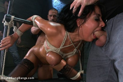 Photo number 5 from Giant Natural Boobs get Tied up Tight and Gang Banged shot for Bound Gang Bangs on Kink.com. Featuring James Deen, Anissa Kate, Rob Blu, Mickey Mod, Karlo Karrera and Mark Davis in hardcore BDSM & Fetish porn.