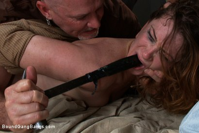 Photo number 15 from Hot Redhead Cici Rhodes Fucked by Hard Cock and Construction Tools shot for Bound Gang Bangs on Kink.com. Featuring CiCi Rhodes, Bobby Bends, Tee Reel, Jack Napier, Ken Stiles, Rico Strong and Mark Davis in hardcore BDSM & Fetish porn.