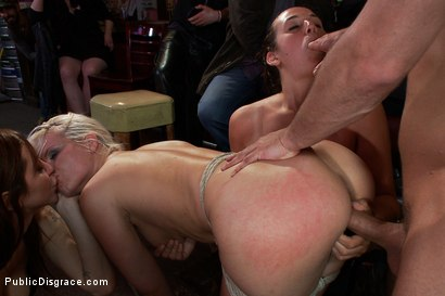 Photo number 11 from Smoking Hot Blonde is Fucked in Public Bar shot for Public Disgrace on Kink.com. Featuring Mr. Pete, Anikka Albrite and Princess Donna Dolore in hardcore BDSM & Fetish porn.