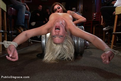 Photo number 15 from Smoking Hot Blonde is Fucked in Public Bar shot for Public Disgrace on Kink.com. Featuring Mr. Pete, Anikka Albrite and Princess Donna Dolore in hardcore BDSM & Fetish porn.