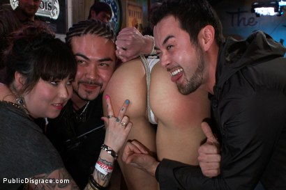 Photo number 2 from Smoking Hot Blonde is Fucked in Public Bar shot for Public Disgrace on Kink.com. Featuring Mr. Pete, Anikka Albrite and Princess Donna Dolore in hardcore BDSM & Fetish porn.