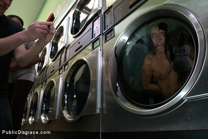 Photo number 10 from Filthy Whore Fucked at the Laundromat shot for Public Disgrace on Kink.com. Featuring James Deen, Cassandra Nix and Princess Donna Dolore in hardcore BDSM & Fetish porn.