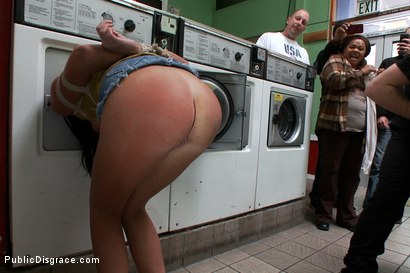 Photo number 5 from Filthy Whore Fucked at the Laundromat shot for Public Disgrace on Kink.com. Featuring James Deen, Cassandra Nix and Princess Donna Dolore in hardcore BDSM & Fetish porn.