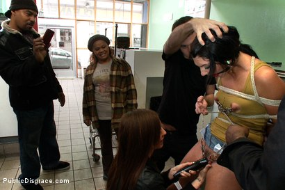 Photo number 1 from Filthy Whore Fucked at the Laundromat shot for Public Disgrace on Kink.com. Featuring James Deen, Cassandra Nix and Princess Donna Dolore in hardcore BDSM & Fetish porn.