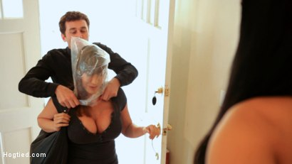 Photo number 2 from <b>HOGTIED FEATURE starring James Deen, Isis Love, Ava Devine, and Remy LaCroix!</b> shot for Hogtied on Kink.com. Featuring James Deen, Ava Devine, Remy LaCroix and Isis Love in hardcore BDSM & Fetish porn.