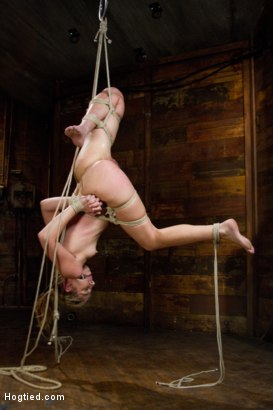Photo number 3 from Chastity Lynn Run Through Her Paces! shot for hogtied on Kink.com. Featuring Chastity Lynn in hardcore BDSM & Fetish porn.