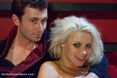 Photo number 14 from The Accident: Blonde Bombshell Manhandled and Mercilessly Fucked! shot for Sex And Submission on Kink.com. Featuring James Deen and Anikka Albrite in hardcore BDSM & Fetish porn.