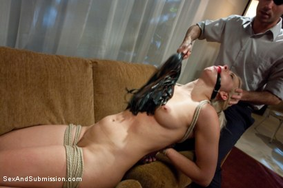 Photo number 9 from The Accident: Blonde Bombshell Manhandled and Mercilessly Fucked! shot for Sex And Submission on Kink.com. Featuring James Deen and Anikka Albrite in hardcore BDSM & Fetish porn.