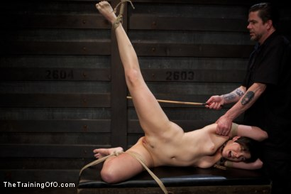 Photo number 21 from Abandoned Slaves<br>Day 2 shot for The Training Of O on Kink.com. Featuring Alice Kingsnorth in hardcore BDSM & Fetish porn.