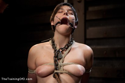 Photo number 10 from Abandoned Slaves<br>Day 2 shot for The Training Of O on Kink.com. Featuring Alice Kingsnorth in hardcore BDSM & Fetish porn.