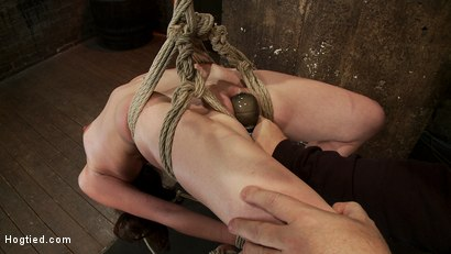 Photo number 5 from Girl next door Jessi Palmer in a back breaking suspension, skull fucked, made 2 cum over & over shot for Hogtied on Kink.com. Featuring Jessi Palmer in hardcore BDSM & Fetish porn.