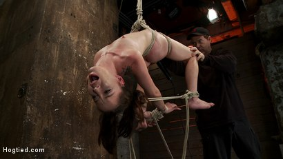 Photo number 12 from Girl next door Jessi Palmer in a back breaking suspension, skull fucked, made 2 cum over & over shot for Hogtied on Kink.com. Featuring Jessi Palmer in hardcore BDSM & Fetish porn.