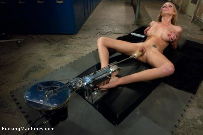 Photo number 10 from Locker Room Lock Down: Machine Fucking Her Brains Out shot for Fucking Machines on Kink.com. Featuring Brett Rossi in hardcore BDSM & Fetish porn.