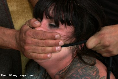 Photo number 4 from Vivienne Del Rio Fulfills her Fantasy of Being Physically Overpowered and Fucked in Every Hole shot for Bound Gang Bangs on Kink.com. Featuring Vivienne Del Rio, Ramon Nomar, Karlo Karrera, Nat Turnher, Toni Ribas, Alex Gonz and Prince Yahshua in hardcore BDSM & Fetish porn.
