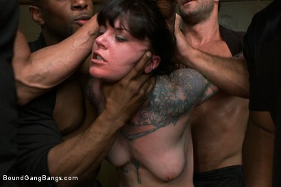 Photo number 7 from Vivienne Del Rio Fulfills her Fantasy of Being Physically Overpowered and Fucked in Every Hole shot for Bound Gang Bangs on Kink.com. Featuring Vivienne Del Rio, Ramon Nomar, Karlo Karrera, Nat Turnher, Toni Ribas, Alex Gonz and Prince Yahshua in hardcore BDSM & Fetish porn.