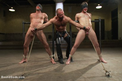 Photo number 4 from Single tail, Electricity and Suspension - Live Shoot shot for Bound Gods on Kink.com. Featuring Josh West, Chad Brock, Brian Bonds and Van Darkholme in hardcore BDSM & Fetish porn.