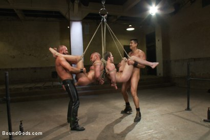 Photo number 9 from Single tail, Electricity and Suspension - Live Shoot shot for Bound Gods on Kink.com. Featuring Josh West, Chad Brock, Brian Bonds and Van Darkholme in hardcore BDSM & Fetish porn.