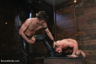 Photo number 14 from Marc Dylan is bound, beaten and fucked for the first time on Bound God shot for Bound Gods on Kink.com. Featuring Marc Dylan and Master Avery in hardcore BDSM & Fetish porn.