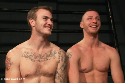 Photo number 15 from Christian Wilde and a new sub shot for Bound Gods on Kink.com. Featuring Travis Irons and Christian Wilde in hardcore BDSM & Fetish porn.