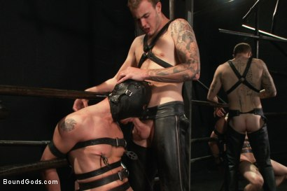 Photo number 3 from Christian Wilde and a new sub shot for Bound Gods on Kink.com. Featuring Travis Irons and Christian Wilde in hardcore BDSM & Fetish porn.