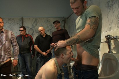 Photo number 1 from I'm a whore... I need cock, cum, piss and pain, Sir. shot for Bound in Public on Kink.com. Featuring Ricky Sinz and Holden Phillips in hardcore BDSM & Fetish porn.