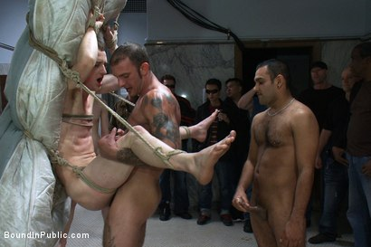 Photo number 8 from I'm a whore... I need cock, cum, piss and pain, Sir. shot for Bound in Public on Kink.com. Featuring Ricky Sinz and Holden Phillips in hardcore BDSM & Fetish porn.