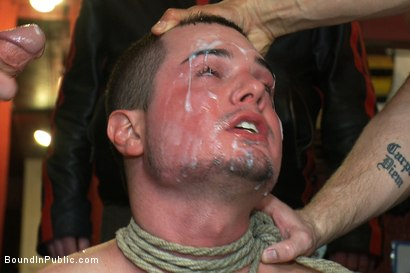 Photo number 14 from Dine and Dash shot for Bound in Public on Kink.com. Featuring Kris Anderson and Trevor Bridge in hardcore BDSM & Fetish porn.