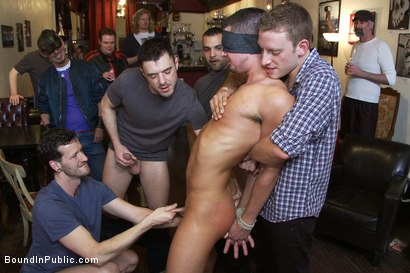 Photo number 2 from Dine and Dash shot for Bound in Public on Kink.com. Featuring Kris Anderson and Trevor Bridge in hardcore BDSM & Fetish porn.