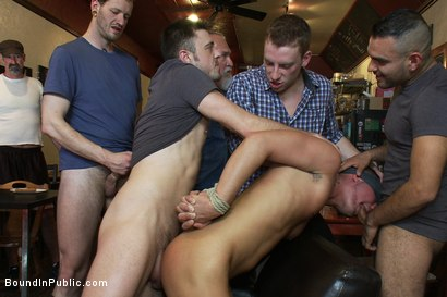 Photo number 6 from Dine and Dash shot for Bound in Public on Kink.com. Featuring Kris Anderson and Trevor Bridge in hardcore BDSM & Fetish porn.