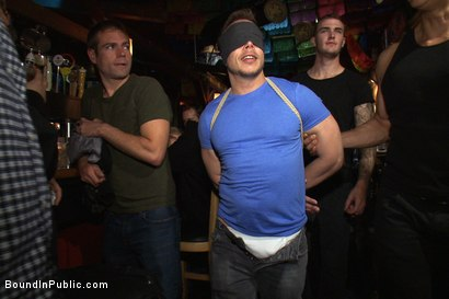 Photo number 1 from Gang fucked on the pool table in public shot for Bound in Public on Kink.com. Featuring Ethan Hudson and Christian Wilde in hardcore BDSM & Fetish porn.