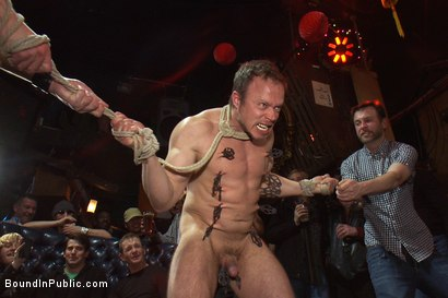 Photo number 6 from Gang fucked on the pool table in public shot for Bound in Public on Kink.com. Featuring Ethan Hudson and Christian Wilde in hardcore BDSM & Fetish porn.