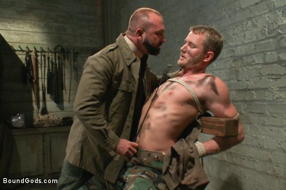 Photo number 3 from Hot New Sub Drake Temple shot for Bound Gods on Kink.com. Featuring Drake Temple and Josh West in hardcore BDSM & Fetish porn.