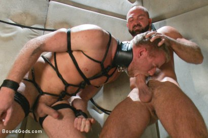 Photo number 10 from Hot New Sub Drake Temple shot for Bound Gods on Kink.com. Featuring Drake Temple and Josh West in hardcore BDSM & Fetish porn.