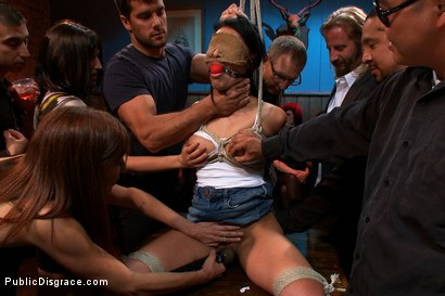 Photo number 1 from 20 yr old Gets Tied up for the First Time Ever! Fisted, Made to Squirt, Pounded in the Ass,  shot for Public Disgrace on Kink.com. Featuring Ramon Nomar, Jayden Lee and Princess Donna Dolore in hardcore BDSM & Fetish porn.
