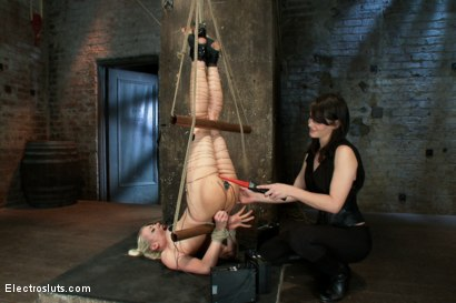 Photo number 11 from An Upside down Electrosex Predicament shot for Electro Sluts on Kink.com. Featuring Lorelei Lee and Bobbi Starr in hardcore BDSM & Fetish porn.