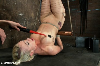 Photo number 9 from An Upside down Electrosex Predicament shot for Electro Sluts on Kink.com. Featuring Lorelei Lee and Bobbi Starr in hardcore BDSM & Fetish porn.