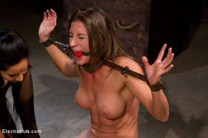 Photo number 4 from Who's the Toughest shot for Electro Sluts on Kink.com. Featuring Skin Diamond, Ariel X, Isis Love, Bobbi Starr and Chastity Lynn in hardcore BDSM & Fetish porn.