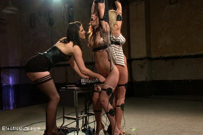 Photo number 15 from Fears of Electrosex shot for Electro Sluts on Kink.com. Featuring Amber Rayne, Kaylee Hilton and Bobbi Starr in hardcore BDSM & Fetish porn.