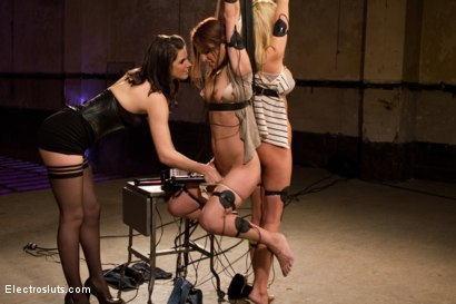 Photo number 7 from Fears of Electrosex shot for Electro Sluts on Kink.com. Featuring Amber Rayne, Kaylee Hilton and Bobbi Starr in hardcore BDSM & Fetish porn.