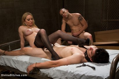 Photo number 13 from Basement Bitch Cuckold shot for Divine Bitches on Kink.com. Featuring Aiden Starr, Wolf Hudson and Tyler Alexander in hardcore BDSM & Fetish porn.