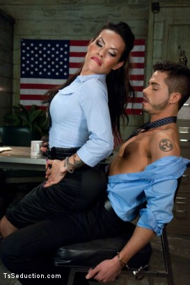 Photo number 2 from Freedom Cock: Kiss Your Citizenship shot for TS Seduction on Kink.com. Featuring TS Foxxy and Turk Mason in hardcore BDSM & Fetish porn.