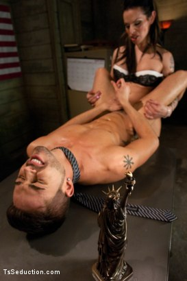Photo number 11 from Freedom Cock: Kiss Your Citizenship shot for TS Seduction on Kink.com. Featuring TS Foxxy and Turk Mason in hardcore BDSM & Fetish porn.