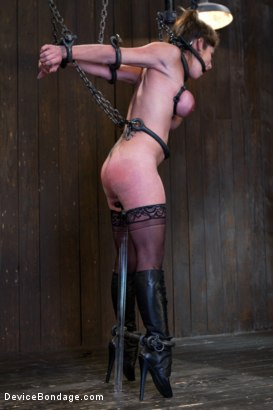 Photo number 5 from Felony Bound in Cruel Latex, Metal and Leather Bondage! shot for Device Bondage on Kink.com. Featuring Felony in hardcore BDSM & Fetish porn.