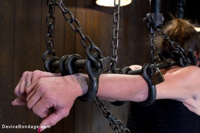 Photo number 2 from Felony Bound in Cruel Latex, Metal and Leather Bondage! shot for Device Bondage on Kink.com. Featuring Felony in hardcore BDSM & Fetish porn.