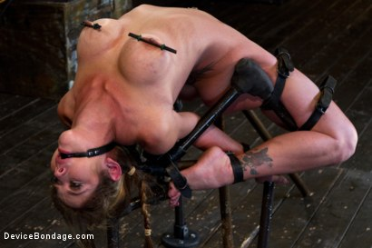 Photo number 16 from Felony Bound in Cruel Latex, Metal and Leather Bondage! shot for Device Bondage on Kink.com. Featuring Felony in hardcore BDSM & Fetish porn.